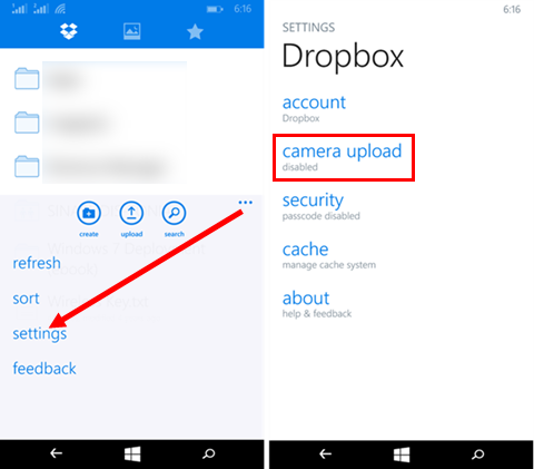 how to delete photos from dropbox camera upload