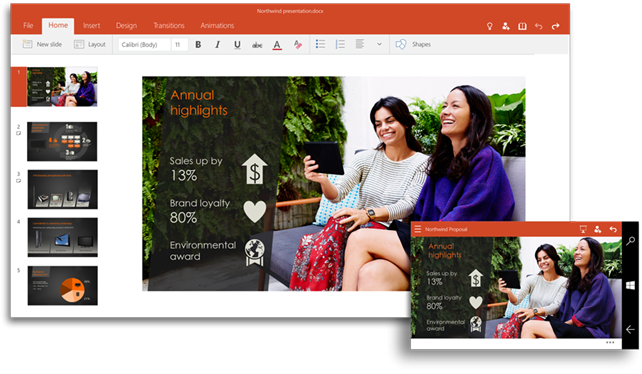 Office Touch με Word, Excel, PowerPoint διαθέσιμο δωρεάν στα Windows 10