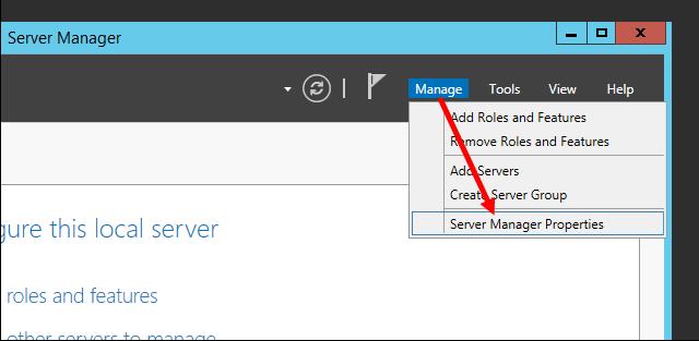Απενεργοποίηση του Server Manager κατά τη σύνδεση στον Windows Server 2012