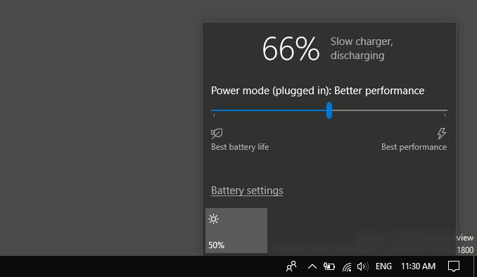 Εμφάνιση ποσοστού μπαταρίας στην taskbar των Windows